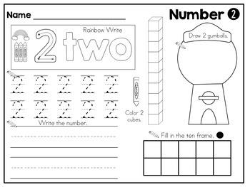 Numbers 1-20 Just Print Set