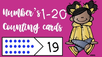 Numbers 1-20 Matching Cards