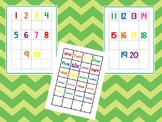 Numbers 1-20 Matching Work Mats.  Printable Preschool Curr
