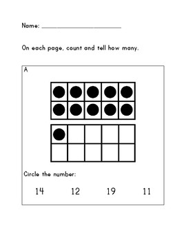 Numbers 1-20 Math Assessment with Rubric