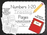 Numbers 1-20: Math Journal Pages