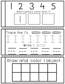Numbers 1 - 20 Mini-Books