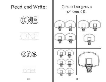 Numbers 1-20 Mini-Books