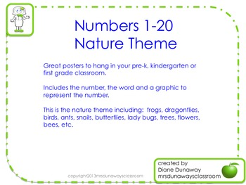 Numbers 1-20 (Nature Theme)