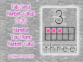 Numbers 0-20 Number Cards with Ten Frames - Gray