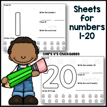 Numbers 1-20: Number Formation, Number Words & Counting