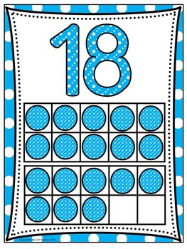 Numbers 1-20 POSTERS with TEN FRAMES WORK MATS