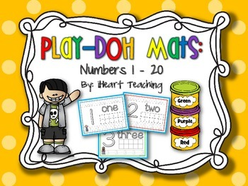 Numbers 0-20 Play-Doh Mats
