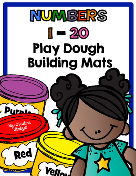 Numbers 1-20 Play Dough Building Mats