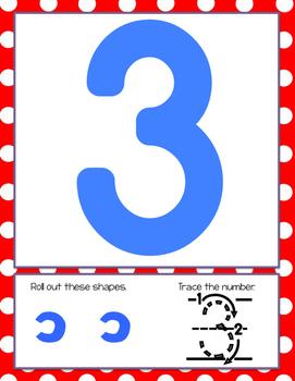 Numbers 1-20 Play Dough Building Mats