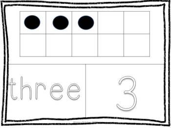 Numbers 1-20 Play Dough Mats