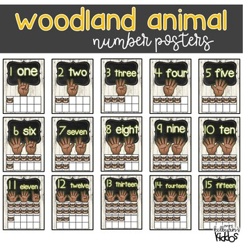 Numbers 1-20 Posters {Woodland Animal Theme}