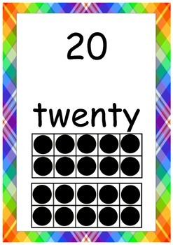 Numbers 1-20 Posters with ten frame