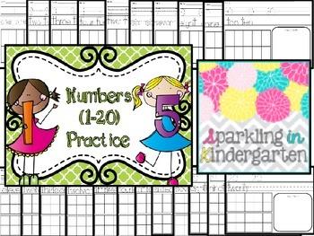 Numbers (1-20) Practice Freebie