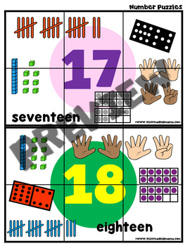Numbers 1-20 Puzzles