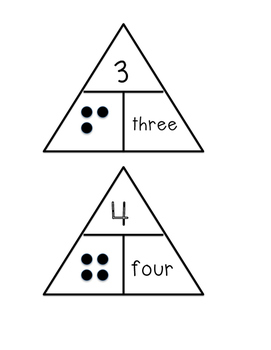 Numbers 1-20 Pyramids