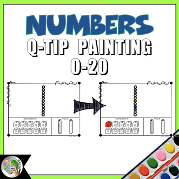 Numbers 0-20 Q-Tip Painting