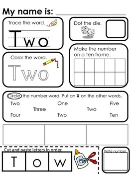 Numbers 1-20 Review Worksheets