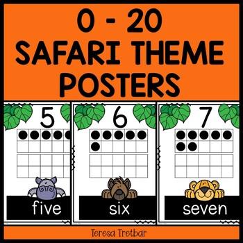Numbers 0 - 20 Safari theme