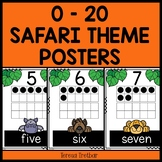 Numbers 0 - 20 Safari theme