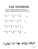 Numbers 1-20 Spanish /los numeros 1-20/Spanish /Spanish nu