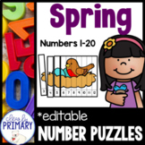 Numbers 1-20: Spring Number Puzzles