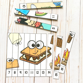 Numbers 1-20: Summer Number Puzzles