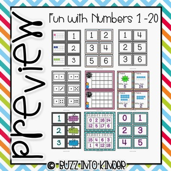 Numbers 1-20: Ten Frame Fun! Common Core Standards Included
