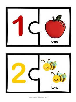 Numbers 1-20 Word Association Puzzle