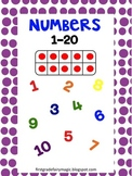 Numbers 1-20, Words and Ten Frames File Folder