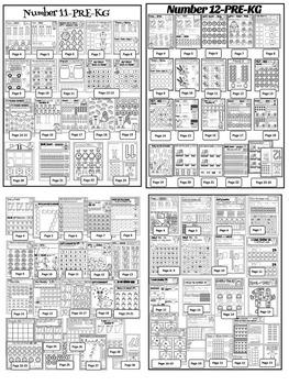 Numbers 1-20 Worksheets-NO PREP- PRE-KG EDITION (380 WORKSHEETS)
