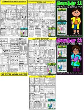 Number Worksheets (1-20)-MATH WORKSHEETS (PRE-KG and KG ) - 671 worksheets