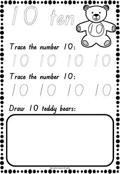 Numbers 1-20 Worksheets QLD Beginners Font