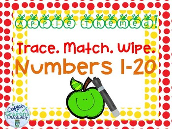 Numbers 1-20 Trace and Match Math Center