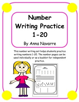 Numbers 1-20 Writing Practice Pages