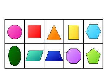 Numbers 1-20 and shape flashcards