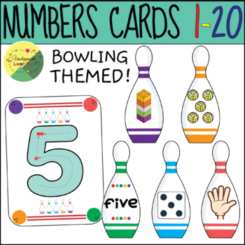 Numbers 1-20 bowling themed