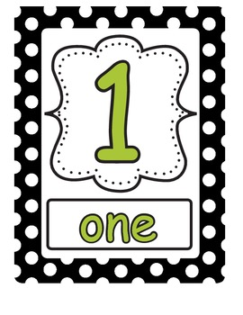 Numbers 1-20 classroom posters (will customize to match your colors)