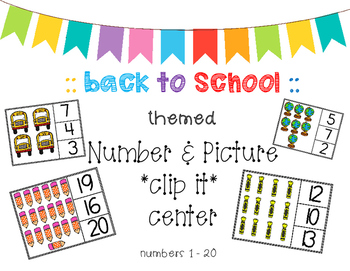 Numbers 1-20 *clip it* center