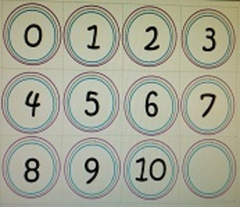 Numbers 1-20 (editable)