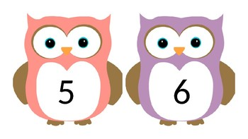 Numbers 1-20 for Bulletin Boards (OWLS)