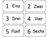Numbers 1-20 in German Flash Cards. Preschool math and for