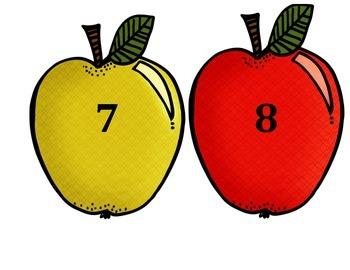 September/October Numbers 1-20 locker tags on apples