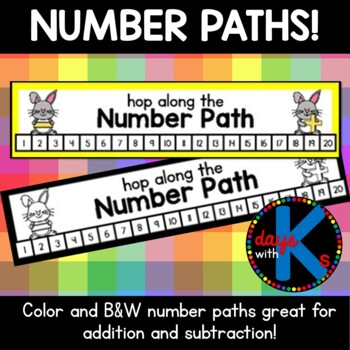Numbers 1-20 number path / number line {CUTE}!
