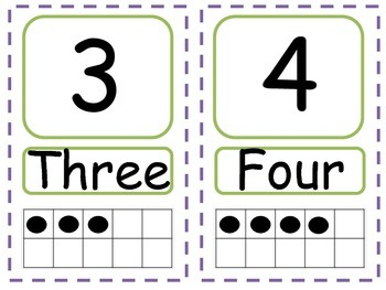Numbers 1 - 20 with ten frame!!