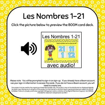 Numbers 1-21 Boom Deck BUNDLE / Les Nombres 1 à 21