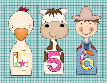 Numbers 1-21 Farm Bowling
