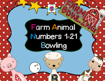 Numbers 1-21 Farm Bowling