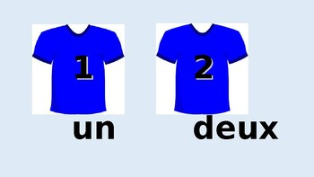 Numbers 1 - 21 in French