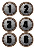 Numbers 1-24 Farmhouse Labels